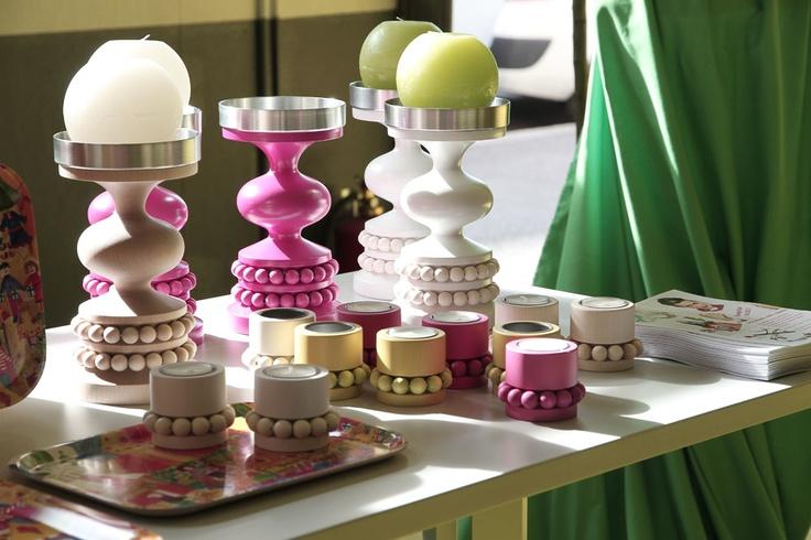 Candle holders by Aarikka