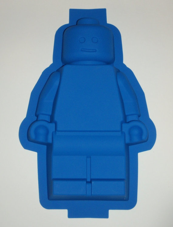 Silicone Lego Minifigure Cake Pan Brownie Jello Mold birthday party. $32.99, via Etsy.