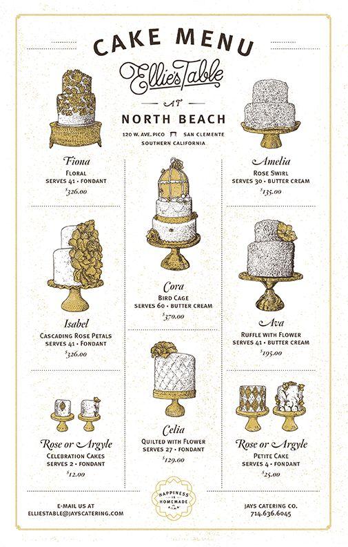 cake menu
