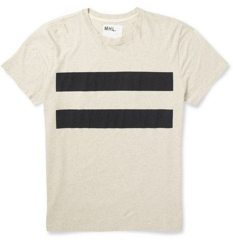 Margaret Howell MHL Printed Cotton and Linen-Blend Jersey T-Shirt