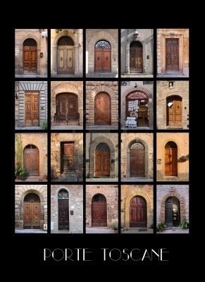 Variaty van oude Toscaanse in Italië met zwarte achtergrond Stockfoto