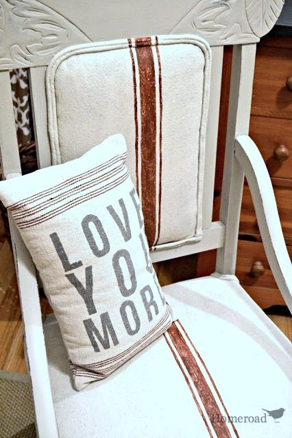 Homeroad- Chalk Paint on a Fabric Chair