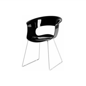 Miss B Sled Chair in Black