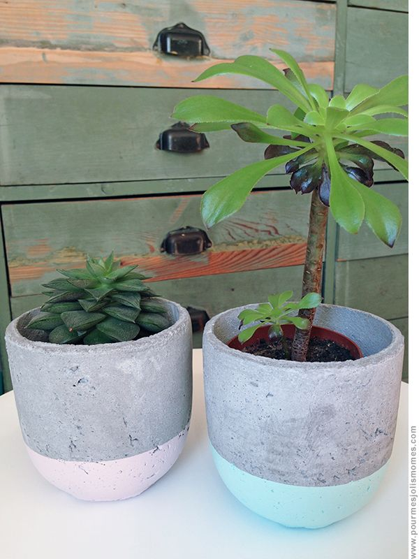 pour mes jolis mômes, mais pas que...: DIY : ciment & pastel
