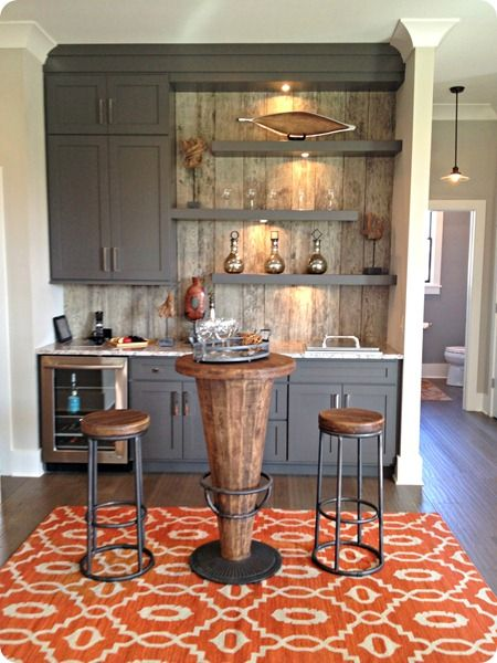 "I don't like the ""wine fridge"" but I like the idea of the build in cabinetry in a dining area."