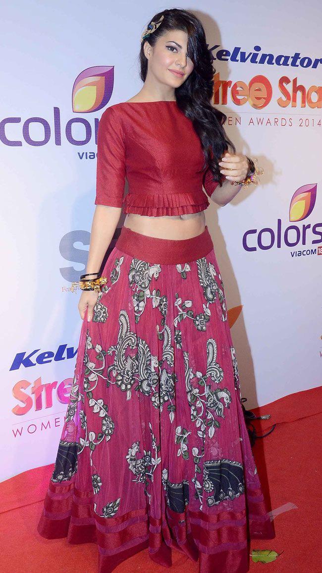 Jacqueline Fernandez on the red carpet at the prestigious Stree Shakti Women Achievers Awards. #Style #Bollywood #Fashion #Beauty