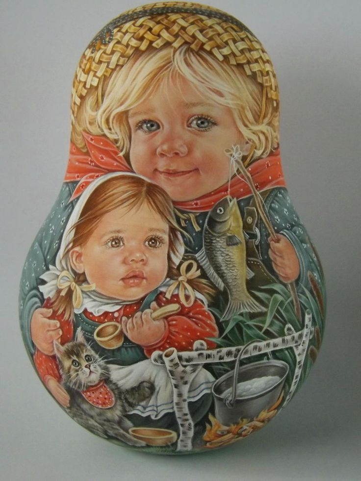 Авторская 1 вида русская Roly Poly вложения матрешек куклы художник usachova | eBay