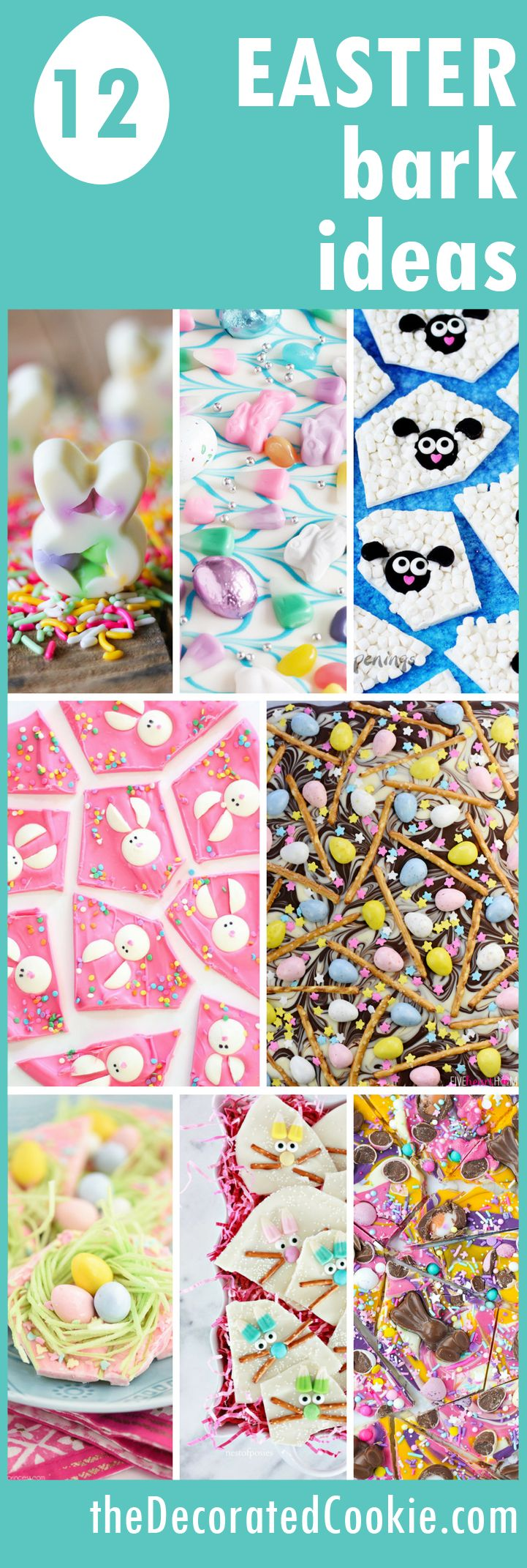 12 Easter chocolate bark ideas