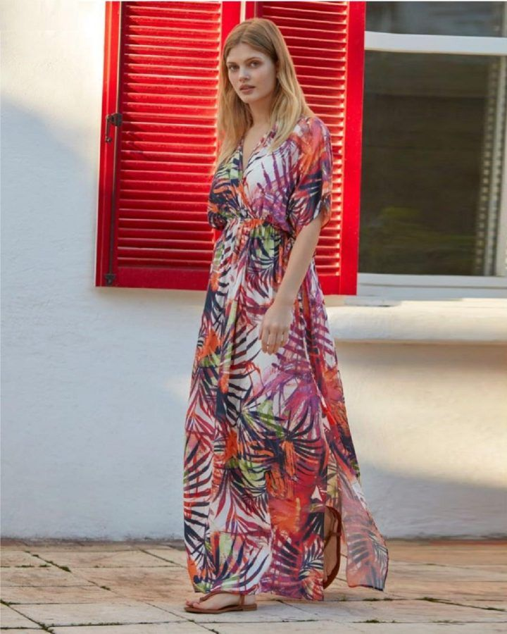 272606620bc Cover up dress have never looked this good. A multicolour floral print on a  white