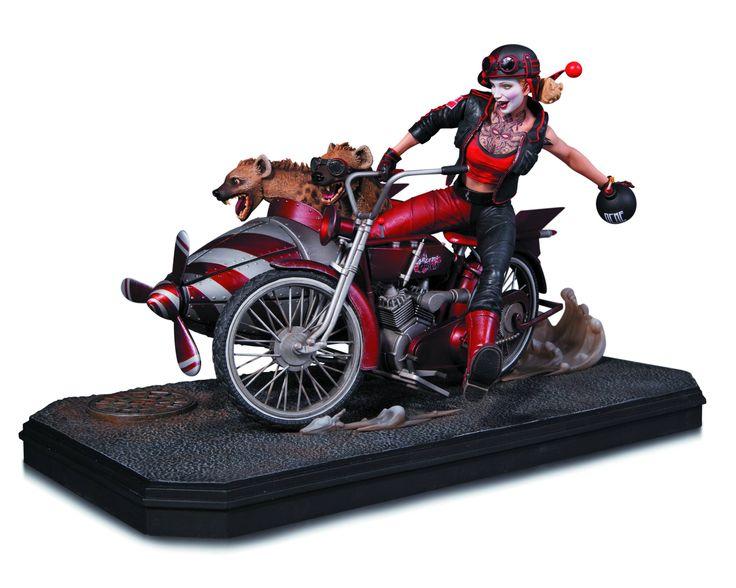 DC Comics Gotham City Garage Harley Quinn Deluxe Statue (large image)