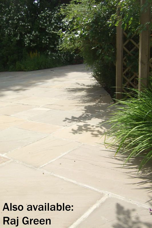 Indian Sandstone FOSSIL MINT Patio Paving Slabs