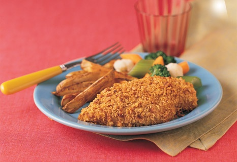 Campbell's Kitchen: Crunchy No-Fry ChickenChicken Recipes, Crunchy Nofri, Chicken Dinner, Crunchy No Fries, Baking Chicken, Nofri Chicken, Baked Chicken, Healthy Recipe, No Fries Chicken