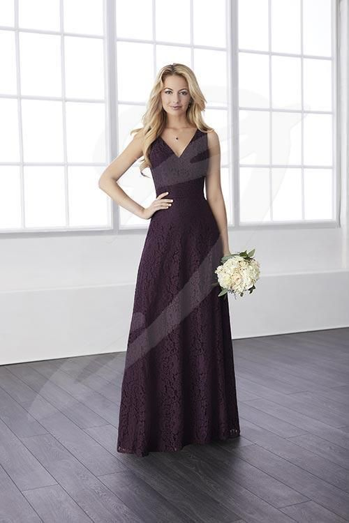 Balletts Bridal - 25565 - Bridesmaids by Jacquelin Bridals Canada - A faux two-piece dress in all lace with a sweetheart neckline and a button up back. A back zipper lies on the skirt below the keyhole opening.