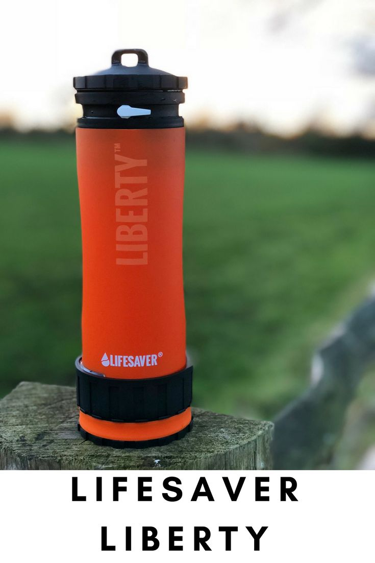 LifeSaver Liberty  LifeSaver Liberty, the worlds' first and only portable water filter bottle with inline pump combined. Using the same advanced filtration technology as the original LifeSaver bottle, the LifeSaver Liberty™ is small and light, yet robust and easy to use. The perfect combination for outdoor enthusiasts or anyone who needs a reliable source of drinking water.