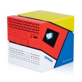 DOOGEE Smart Cube P1 Mini DLP LED HD Projecteur Home Cinéma 70 lumen Vidéoprojecteur Android 4.4