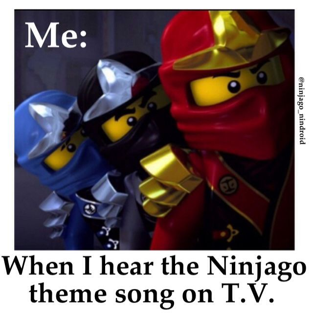 Ninja-Go! Ninja-Go! Jump up kick back whip around and spin...... I could listen to that for hours