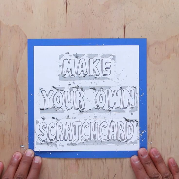 Make Your Own Scratchcard   #diy #cards #birthday #scratchcard #nifty
