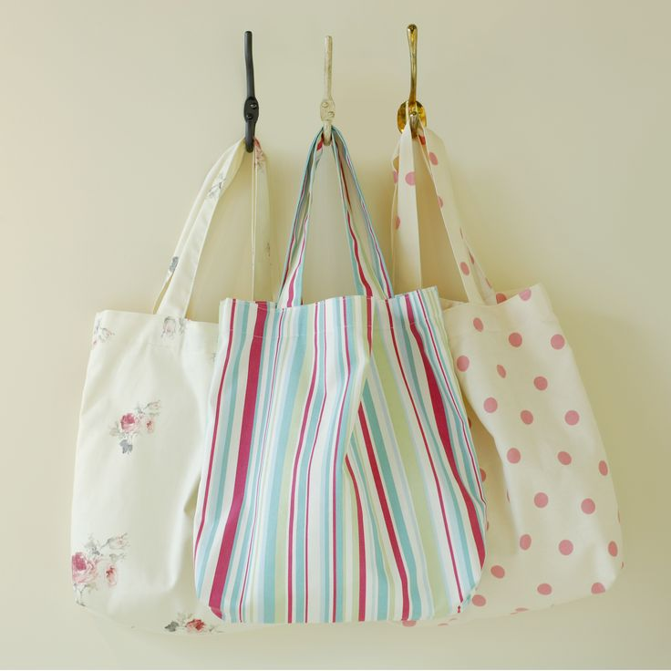 These new 100% #cotton #shopping #bags are practical as well as beautiful.