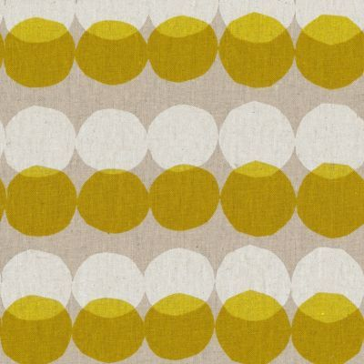 Mirrored Spots Mustard & White on Natural