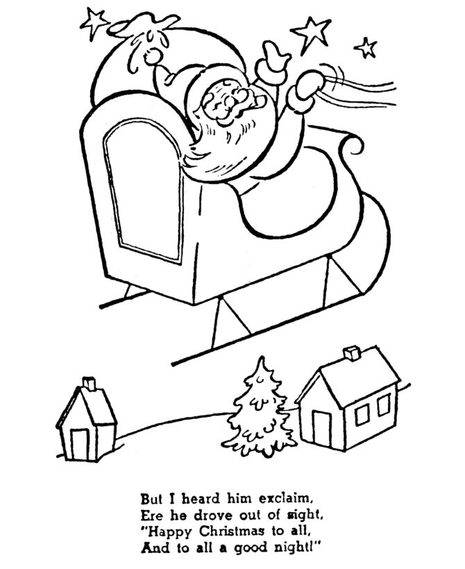 night before christmas coloring pages christmas story coloring