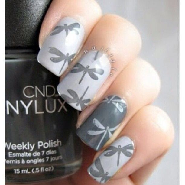 Photo by iiNailsArt(iinailsart): Lovely dragon fly nails.. Dragonfly Nail  ArtButterfly ... - 20 Best Dragonfly Nails! Images On Pinterest Cute Nails, Nail