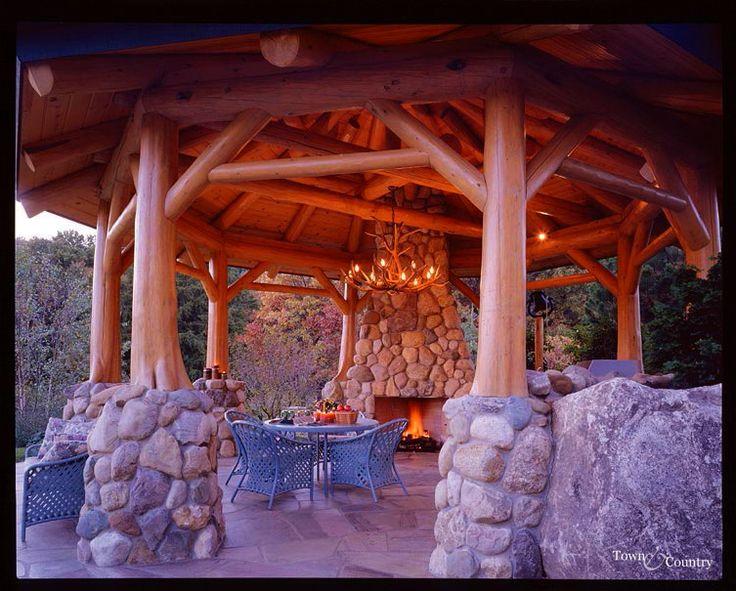 Log Pavilion Structures – Air Media Design