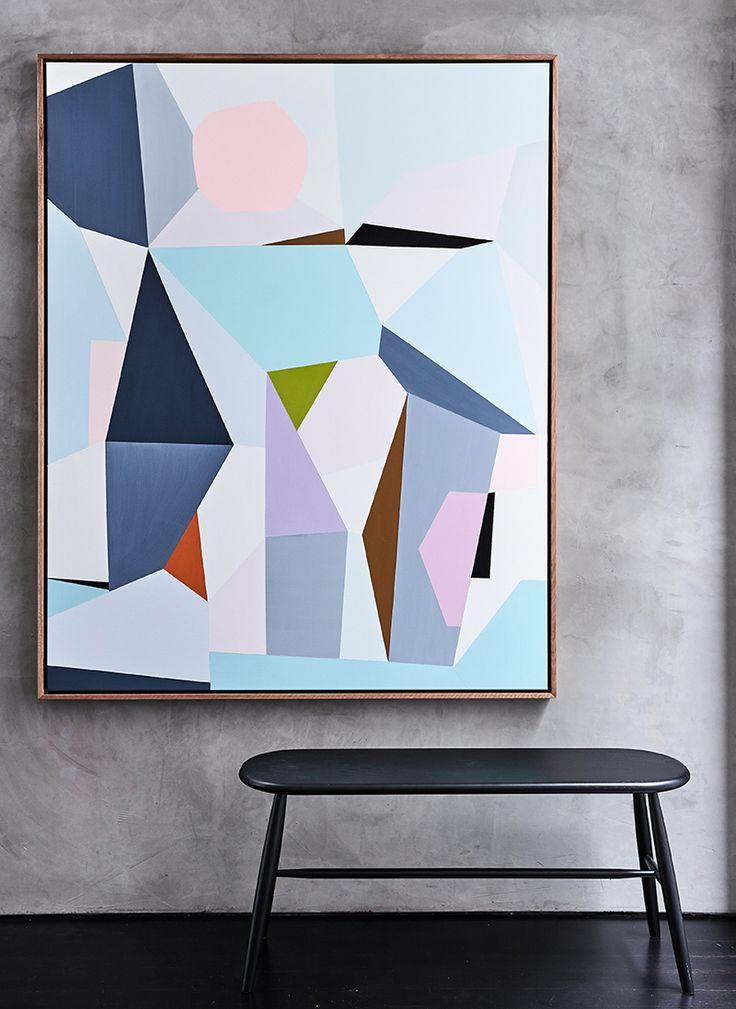 Pastel painting - blues, pinks, greys, purples