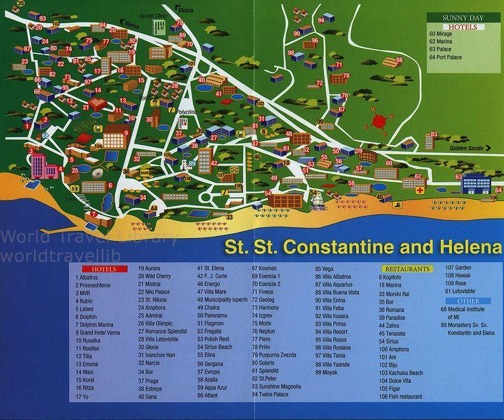 https://flic.kr/p/VyDp3j | Varna Golden Sands, St. St. Constantine and Helena Map; 2016_4, Northern Bulgarian Black Sea Coast, North-East region, Bulgaria