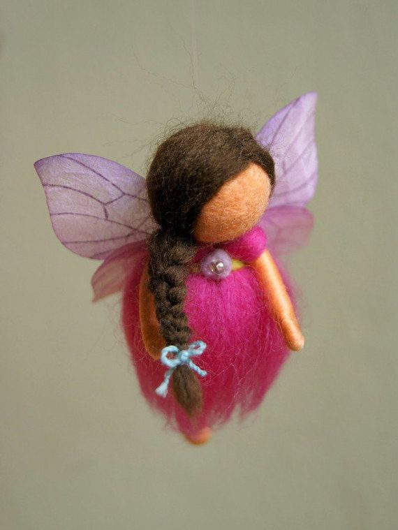 Mini spring fairies mobile waldorf inspired door byNaturechild