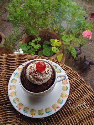 Chocolate Cake in a Mug recipe courtesy of Garden, Tea, Cakes and Me blog