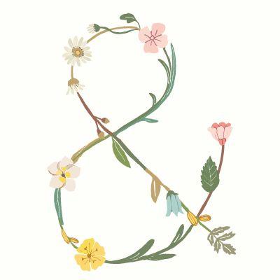 Free Printable ♥ Blossom Type Ampersand