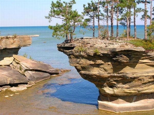 Turnip Rock Lake Huron Michigan-Crazy!