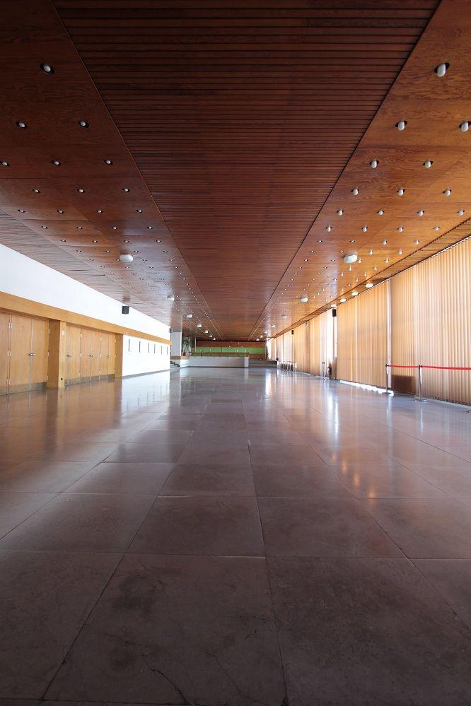 Lecture theatre of Nicolaus Copernicus University, interior of auditorium and foyer, project: Lech Kłosiewicz, Toruń, 1972 ul. Gagarina 11 interior unsaved Photographer: Cezary Lisowski #polish #architecture #art #lecturetheatre #toruń