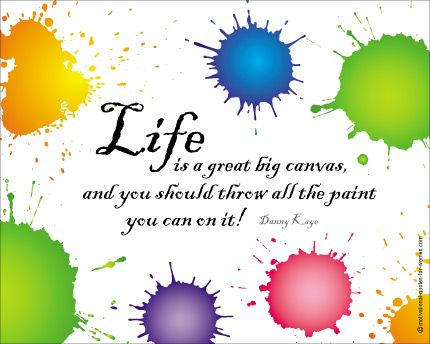 Life Is A Great Big Canvas Poster From Motivational Quotes For