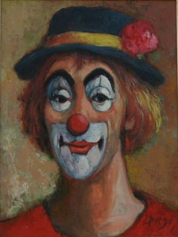 """DIego Voci - """"Francesco"""" the clown 'lives' in Pirmasens Germany. At present, we (DVP) are in the midst of solving the mystery: https://diegovociproject.wordpress.com/2015/06/22/dining-with-diego-part-3-five-year-mystery-continues/"""