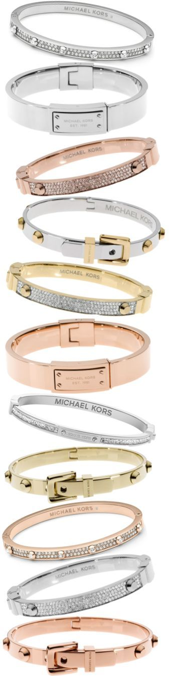 Mix & Match Bangles for a look that goes with everything. Gorgeous bangles From Michael Kors.