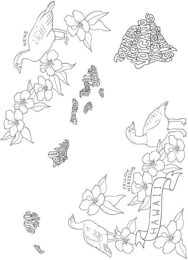 Creative Haven U.S. A. Whimsey: A Word Play Coloring Book