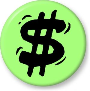 Dollar currency symbol vector - Button Badge - Brooch - Gift