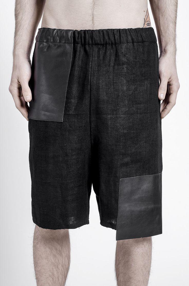 LAMEDH paneled shorts