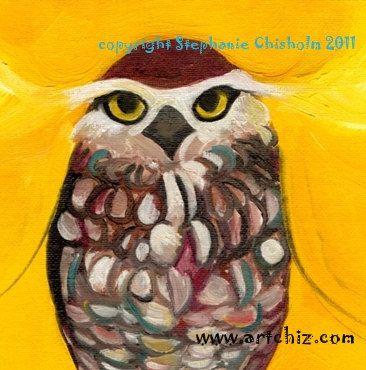 Golden Warrior. Owl Art Print. Awesome Owl Art. Art Print. Golden. Yellow. Owl Portrait. Brown Owl. Amazing Owl Art. Poster