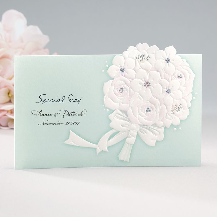 Mint Embossed Floral Elegant Wedding Invitations   Cho 1813 | ItsInvitation