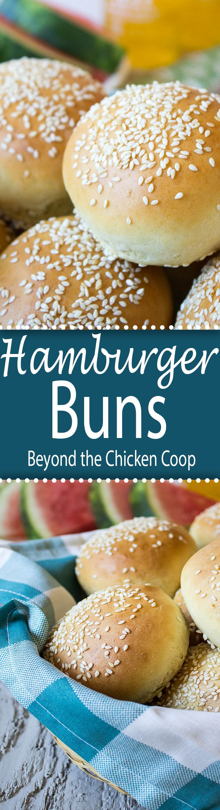 Homemade hamburger buns are so much better than anything you can buy in the store. beyondthechickencoop.com