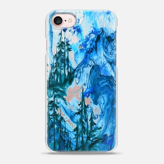 IF A TREE FALLS, BLUE Bold Colorful Forest Abstract Watercolor Painting Nature Wanderlust Outdoors Mountains Ebi Emporium - Snap Case #Casetify @Casetify #CasetifyArtist #EbiEmporium #iPhoneCase #mountains #trees #forest #nature #wanderlust #transparent #clearcase #iPhone6 #iPhone7 #iPhone8 #iPhoneX #Samsung #outdoors #watercolor #colorful #blue #BlueiPhone #indigo #navy #winter