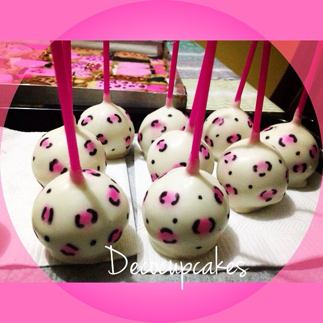 Animal Print Cakepop's