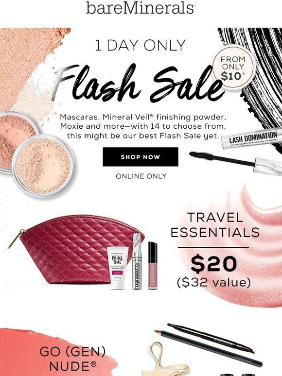 1 Day Flash Sale Bareminerals Flash Sale Bareminerals Sale