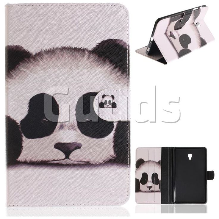Sleeping Panda Painting Tablet Leather Wallet Flip Cover for Samsung Galaxy Tab A 8.0 (2017) T380 T385 A2 S - Leather Case - Guuds