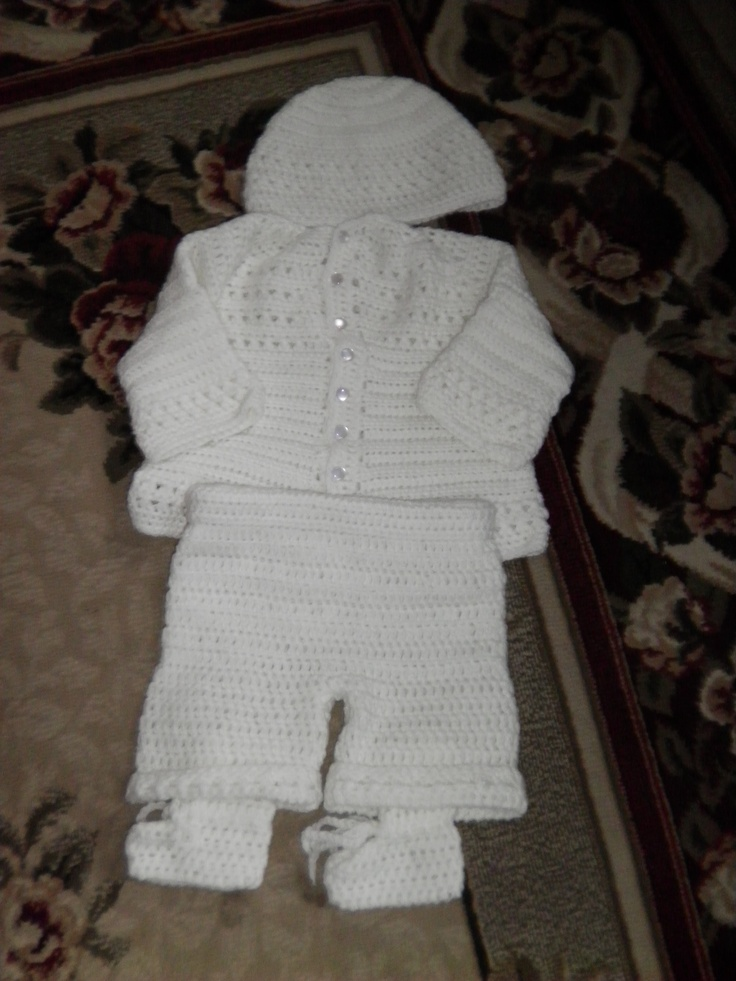 Boy S Christening Outfit Crochet And More Boy Baptism