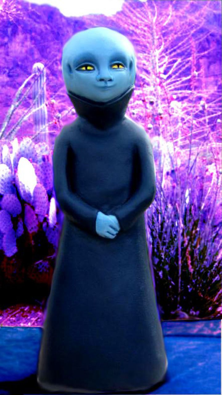 Blue Arcturia, being - sculpture statue by Cynthia T ...