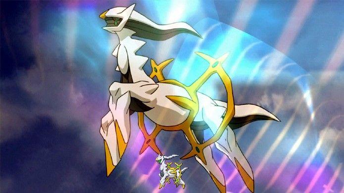 Conhecido como o criador de todo o universo em Pokémon Diamond & Pearl, Arceus é o maior lendário de toda a série (Foto: Reprodução/Rafael Monteiro)