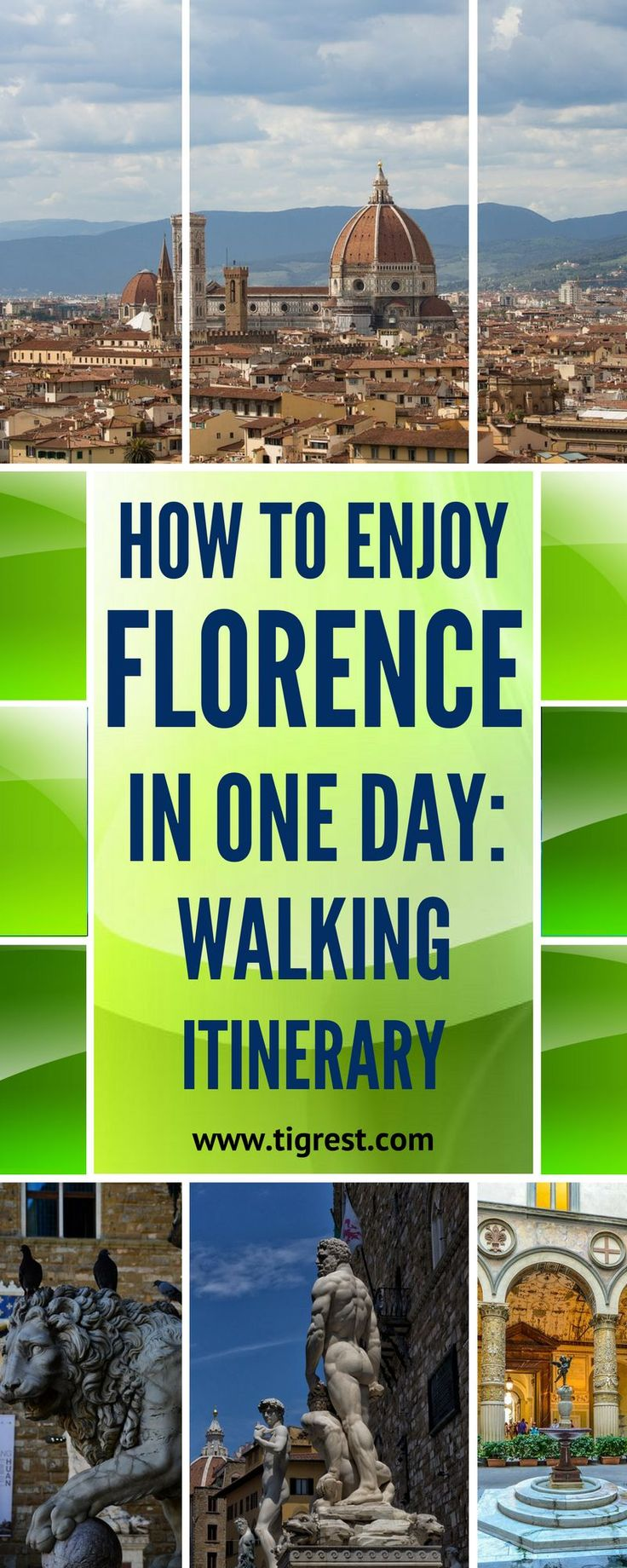 Florence Italy highlights - things to do and see in one day - Piazza Michelangelo, Ponte Vecchio, Piazza Signoria and many more!  Buy air tickets: | http://2track.info/Jl1s/